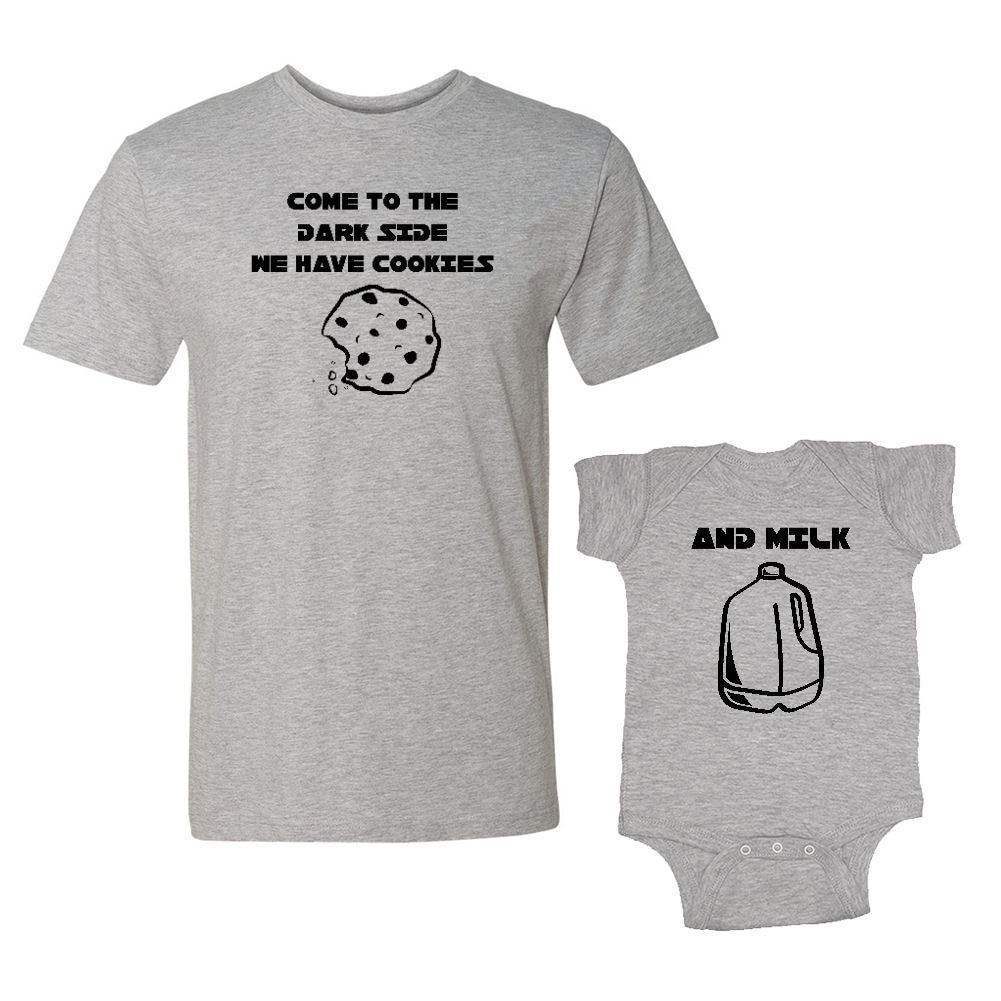 We Match!™ Come To The Dark Side We Have Cookies And Milk Matching Shirts For Family Set