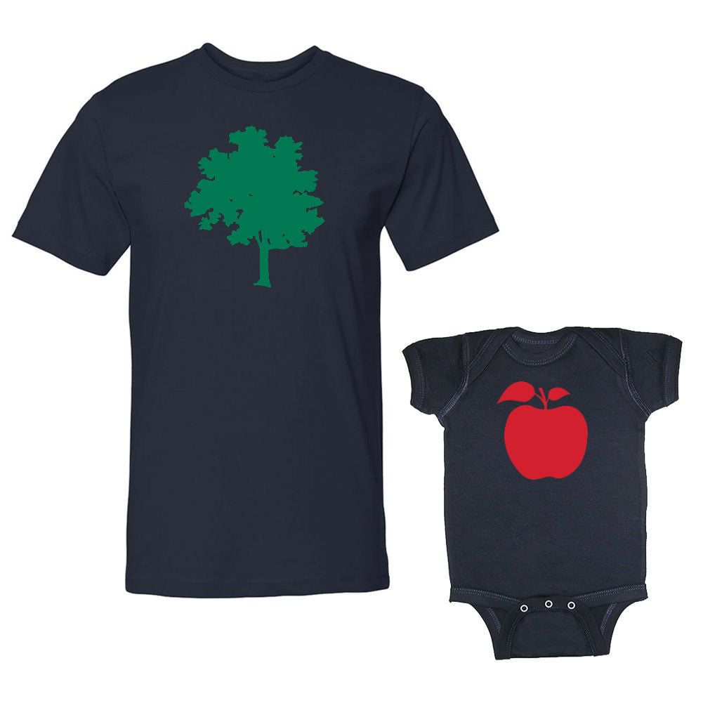We Match!™ Apple & Tree (Apple Doesn't Fall From The Tree) Matching Shirts For Family Set