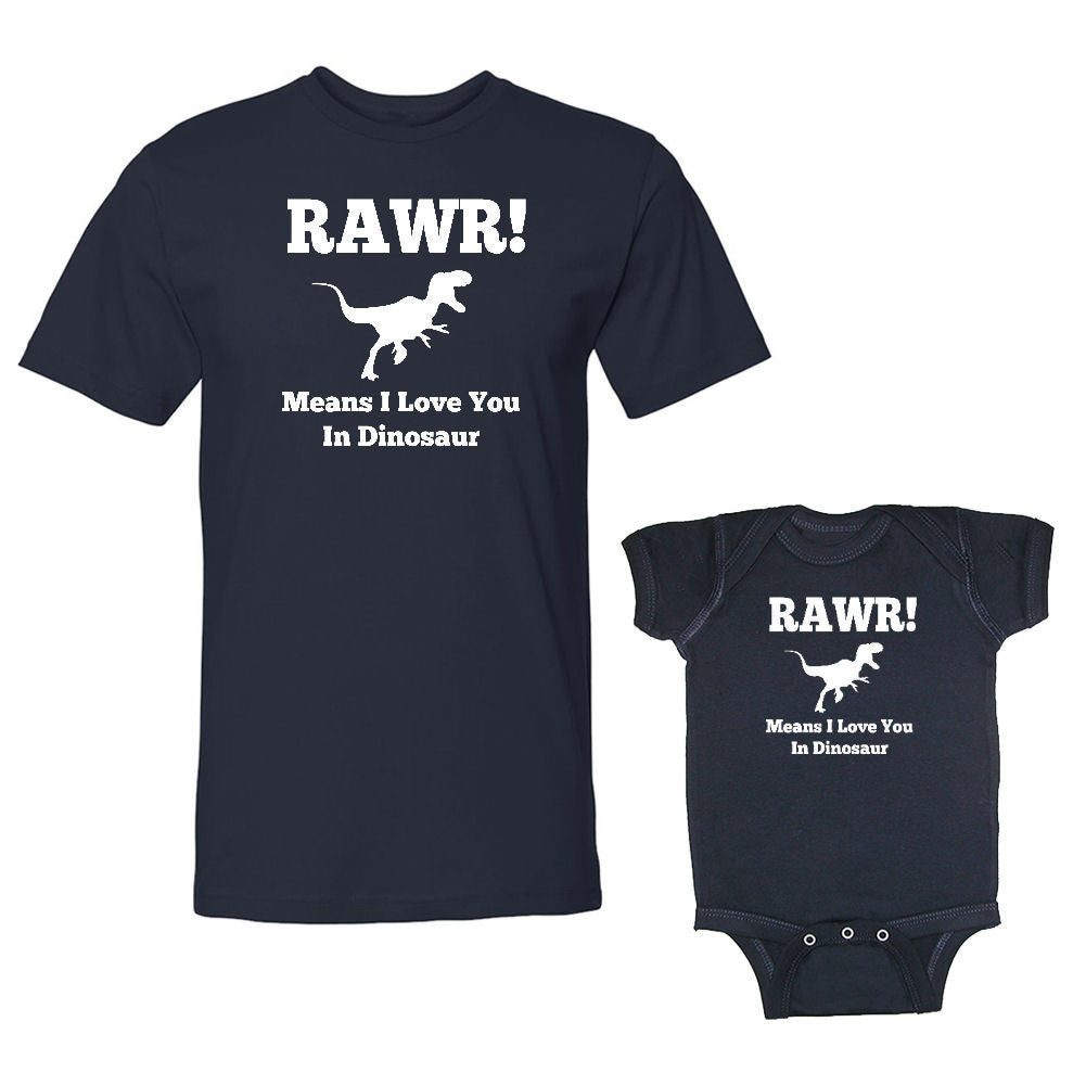 We Match!™ Rawr! Means I Love You In Dinosaur Matching ...