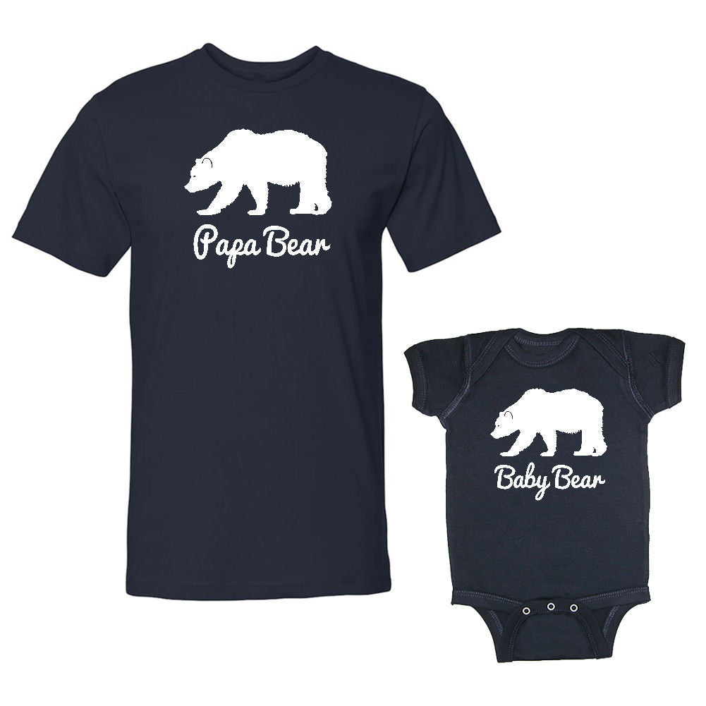 We Match!™ Papa Bear & Baby Bear (Polar Bear) Matching Shirts For Family Set