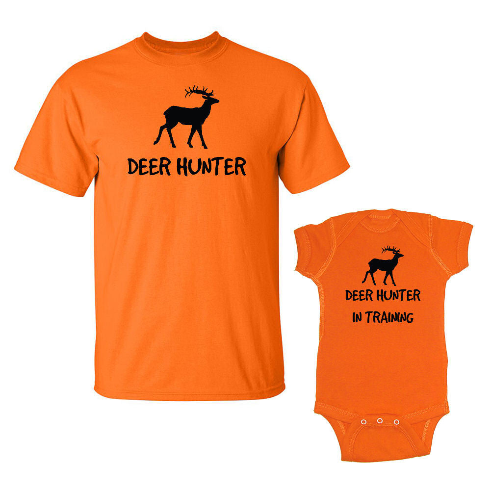 We Match!™ Deer Hunter & Deer Hunter In Training Matching Shirts For Family Set