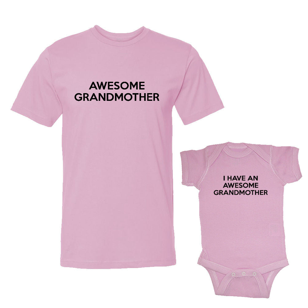 We Match!™ Awesome Grandmother & I Have An Awesome Grandmother Matching Shirts For Family Set