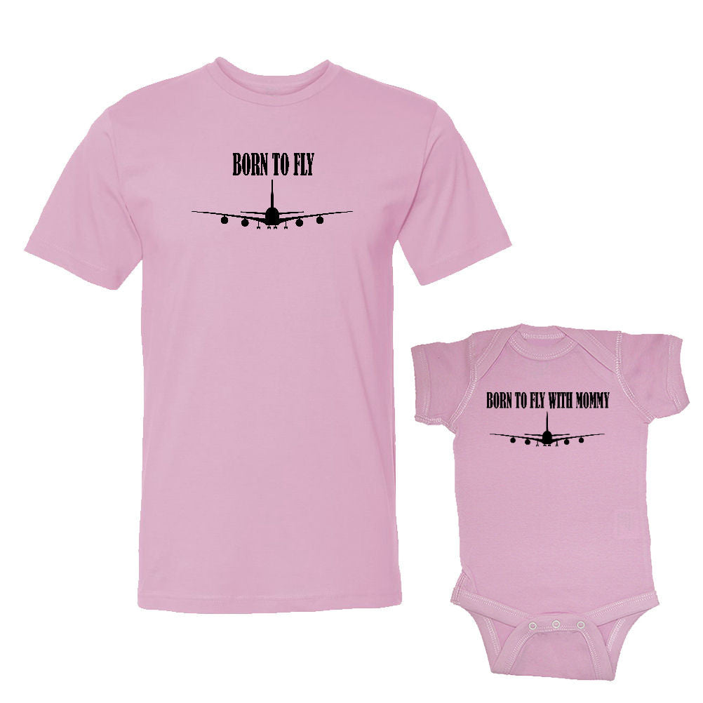 We Match!™ Born To Fly & Born To Fly With Mommy Matching Shirts For Family Set
