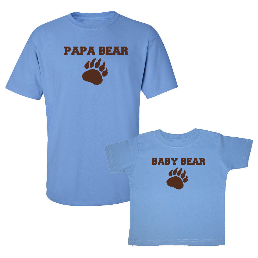 We Match!™ Papa Bear & Baby Bear Matching Shirts For Family Set