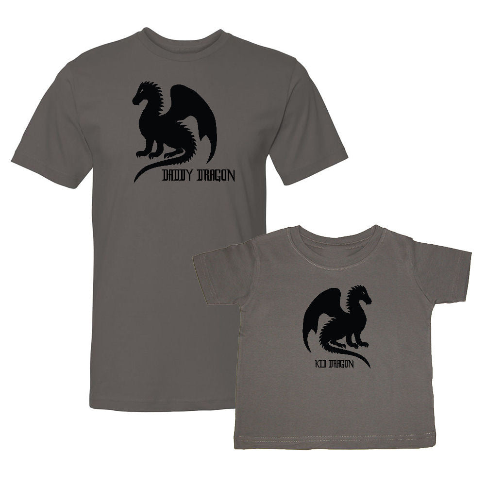We Match!™ Daddy Dragon & Kid Dragon Matching Shirts For Family Set