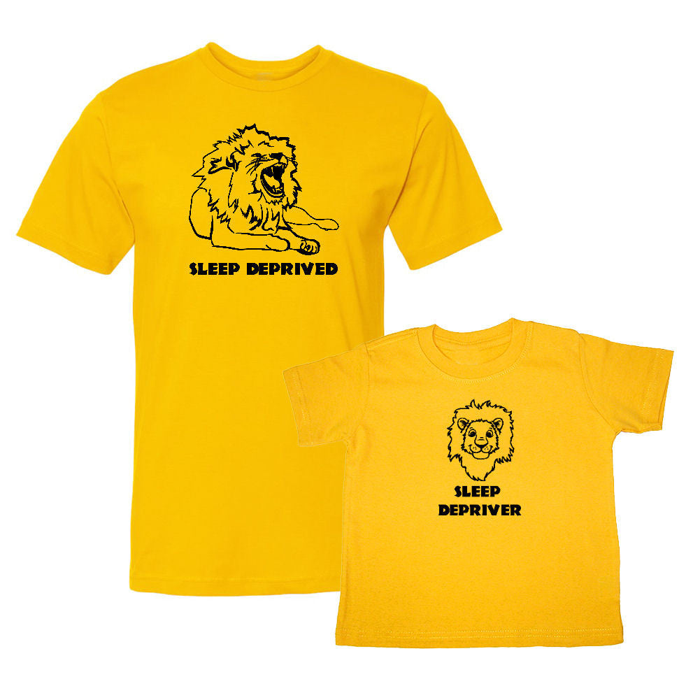 We Match!™ Sleep Deprived (Lion) & Sleep Depriver (Lion Cub) Matching Shirts For Family Set