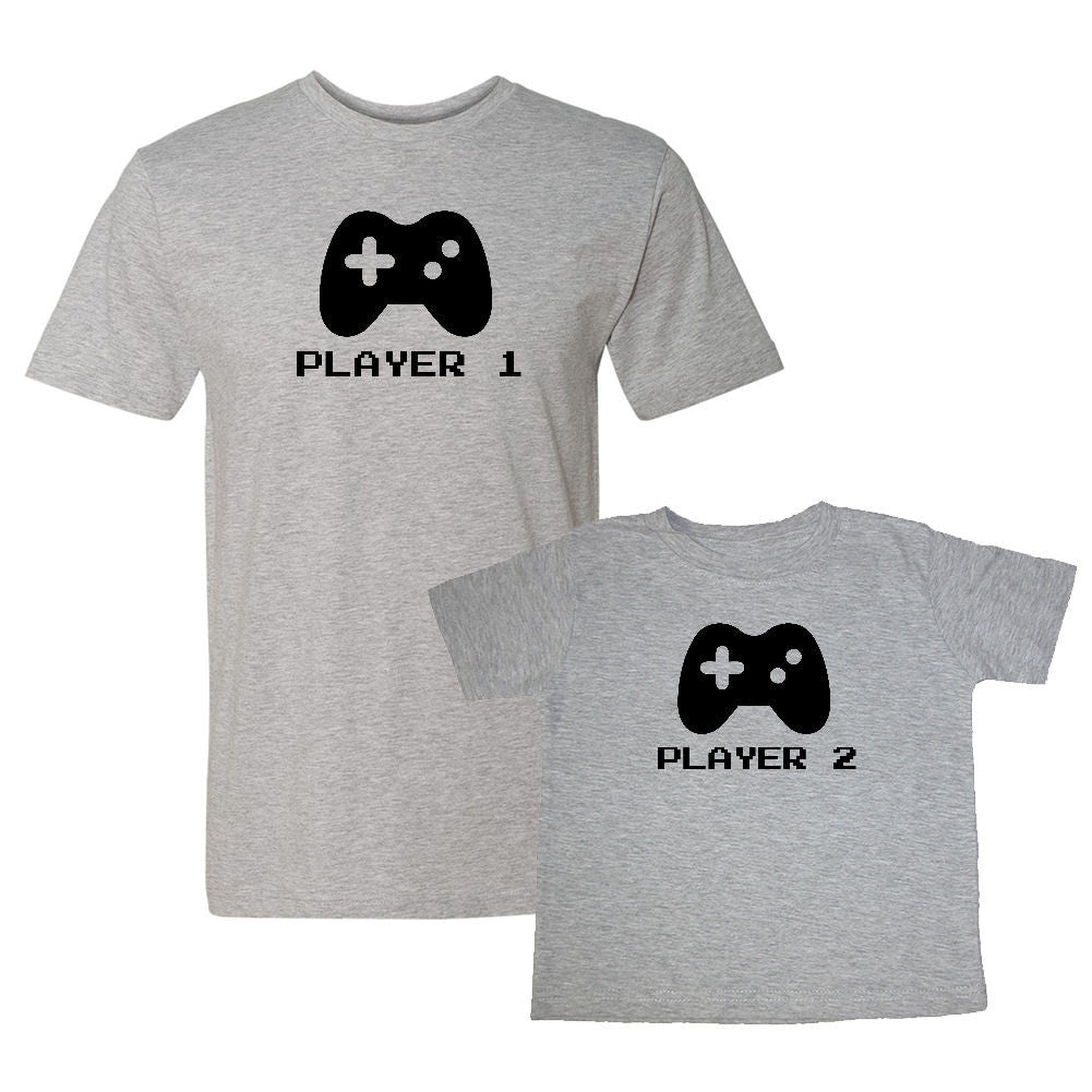 We Match!™ Player 1 & Player 2 Matching Shirts For Family Set