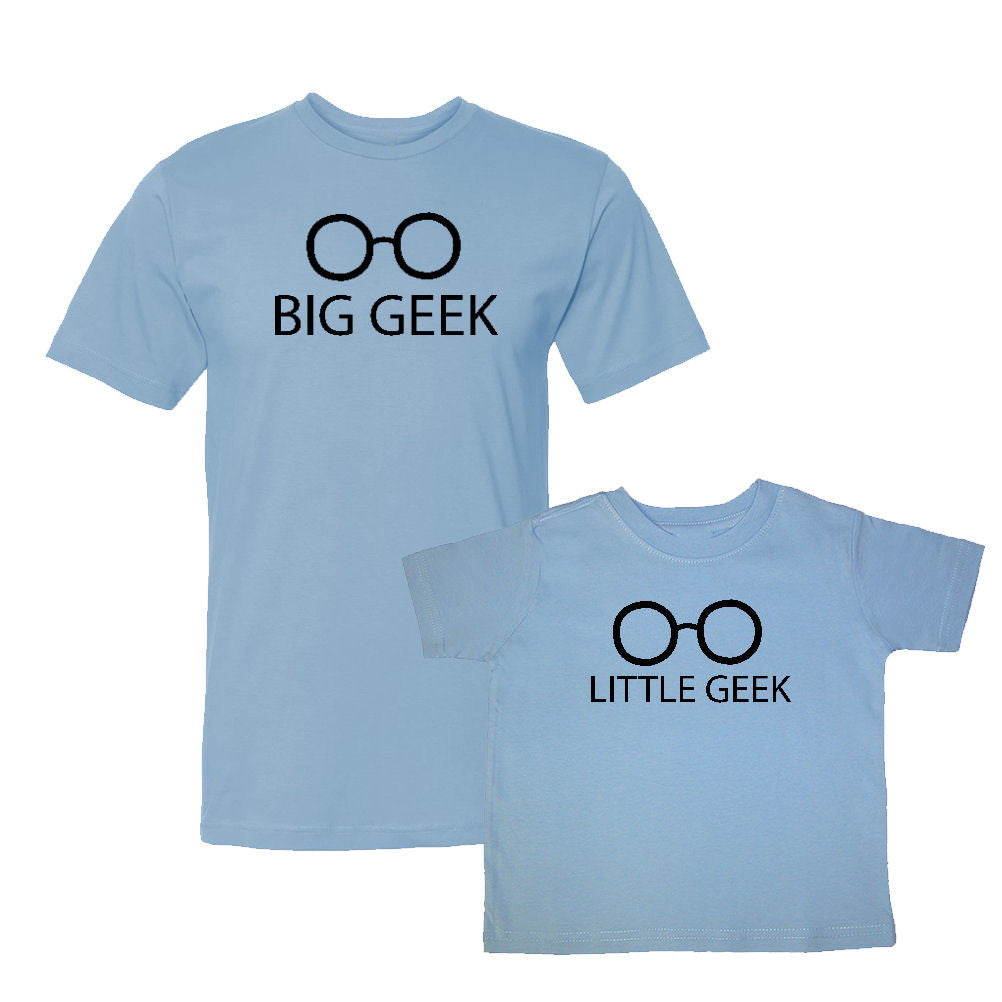 We Match!™ Big Geek & Little Geek Matching Shirts For Family Set