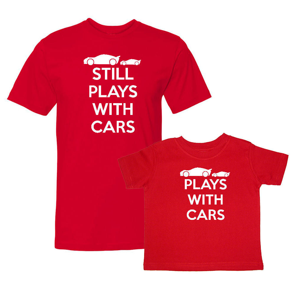 We Match!™ Plays With Cars & Still Plays With Cars (Race Car) Matching Shirts For Family Set