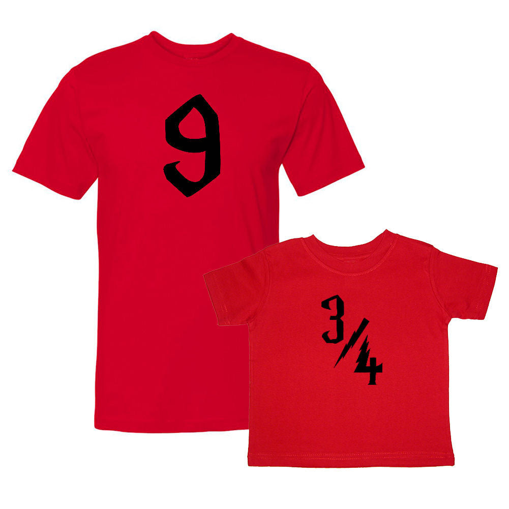 We Match!™ 9 & 3/4 Nine And Three-Quarters (Harry Potter) Matching Shirts For Family Set