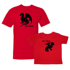 We Match!™ Big Dragon & Baby Dragon Matching Shirts For Family Set