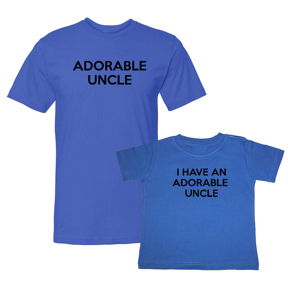 We Match!™ Adorable Uncle & I Have An Adorable Uncle Matching Shirts For Family Set