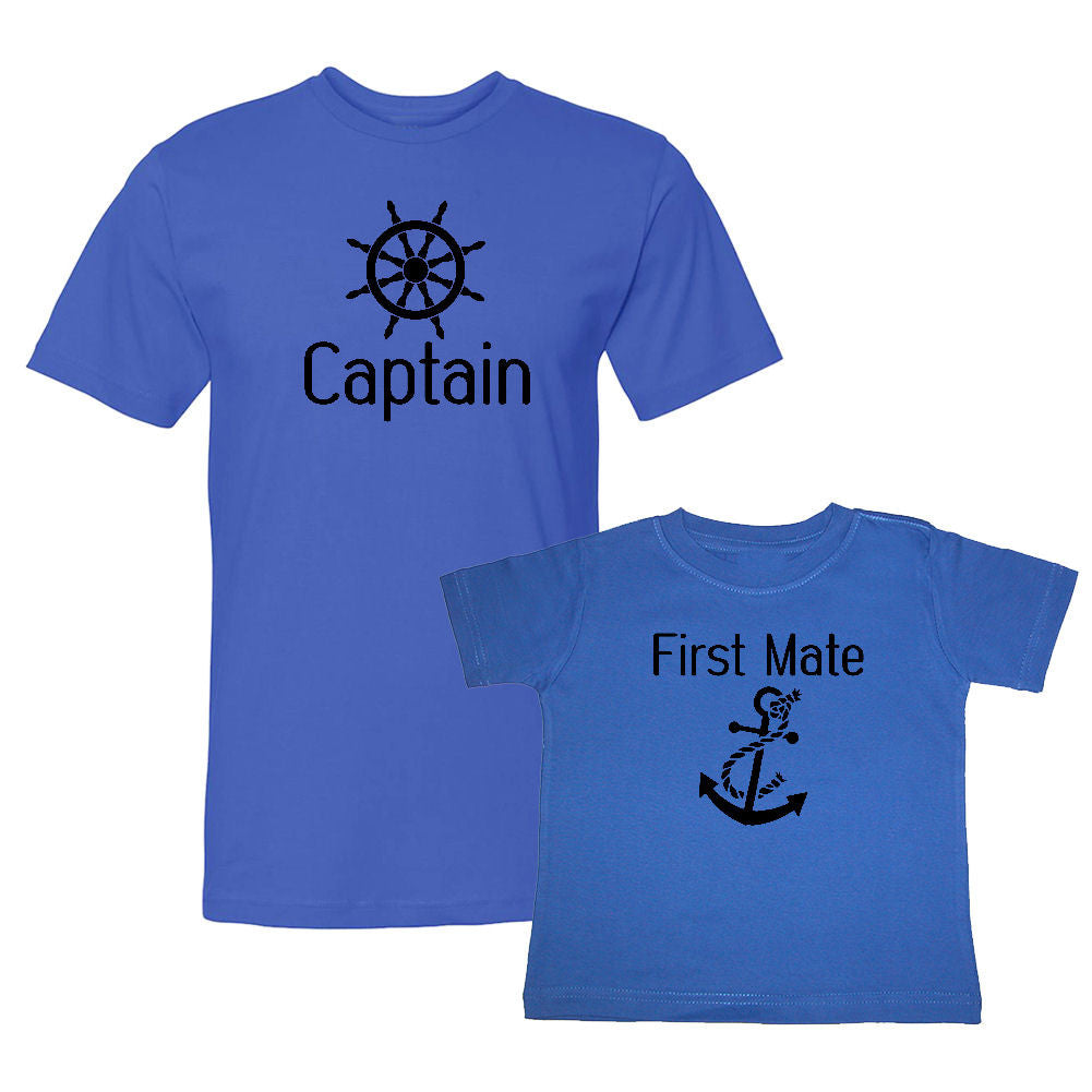 We Match!™ Captain & First Mate Matching Shirts For Family Set