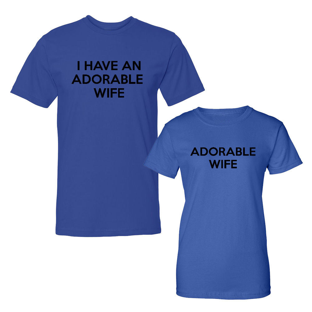 We Match!™ I Have An Adorable Wife & Adorable Wife Matching Couples T-Shirts Set