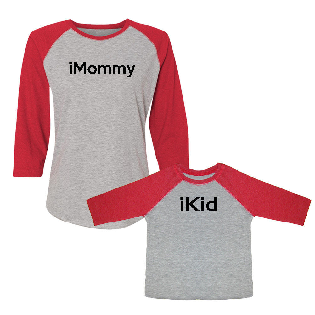We Match!™ iMommy & iKid Matching Adult & Child 3/4 Sleeve Baseball T-Shirt Set
