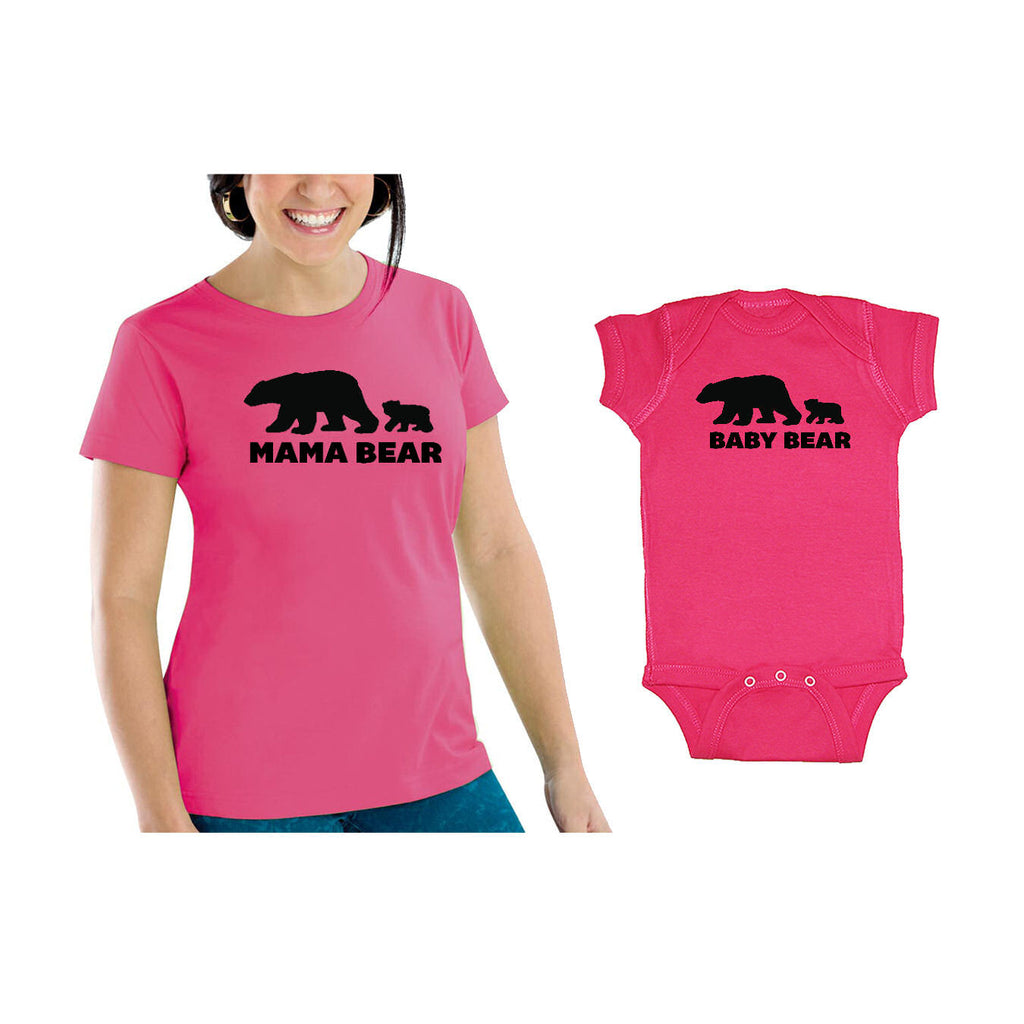 We Match!™ Mama Bear & Baby Bear (Two Bears) Matching Shirts For Family Set
