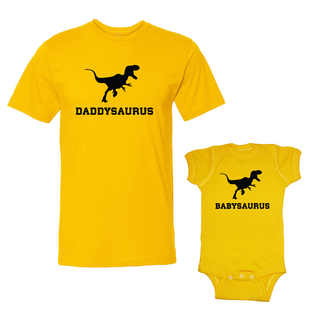 We Match!™ Daddysaurus & Babysaurus Matching Shirts For Family Set