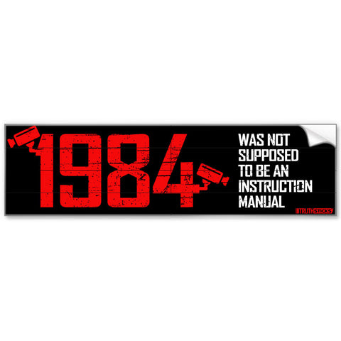 1984 Instruction Manual Bumper Sticker