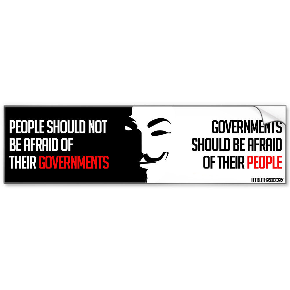 Anonymous Governments Bumper Sticker