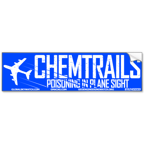 Chemtrails - Poisnoning In Plane Sight Bumper Sticker