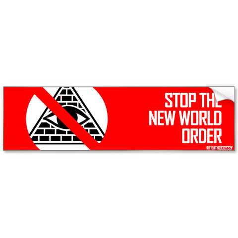 Stop The New World Order Bumper Sticker