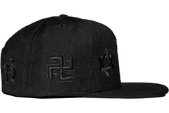 Frenemy Clothing Black on Black Super Symbols Snapback