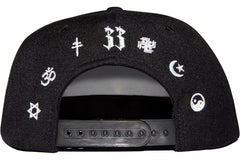 Frenemy Clothing White on Black Fuck Racism Snapback