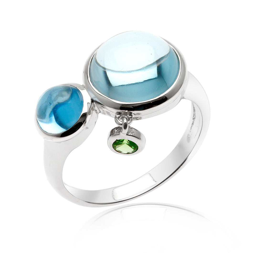 Bonbons Topaz Rhodium plated Sterling Silver Ring