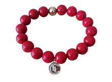 River stone Sterling Silver bracelet - red - LILACLABEL - 1