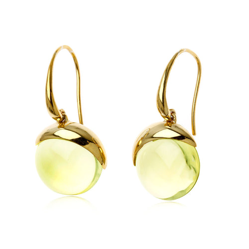 Bonbons Quartz 18K Gold plated Sterling Silver earings