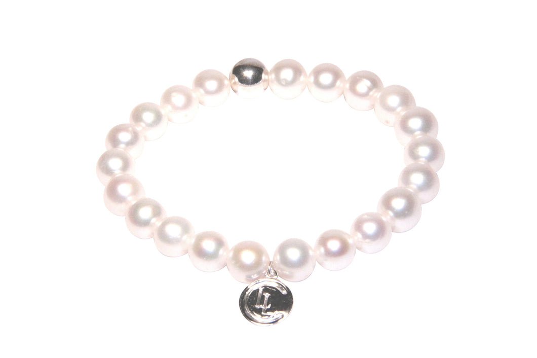 Pearl sterling silver bracelet - White - LILACLABEL - 1