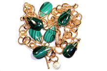 14K gold plated Malachite charm - LILACLABEL - 4