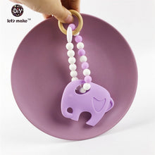 Silicone and Wood Baby Teething Toy