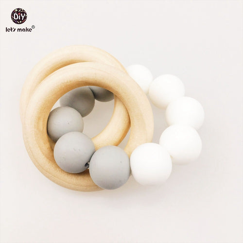 Wood and Silicone Baby Teether