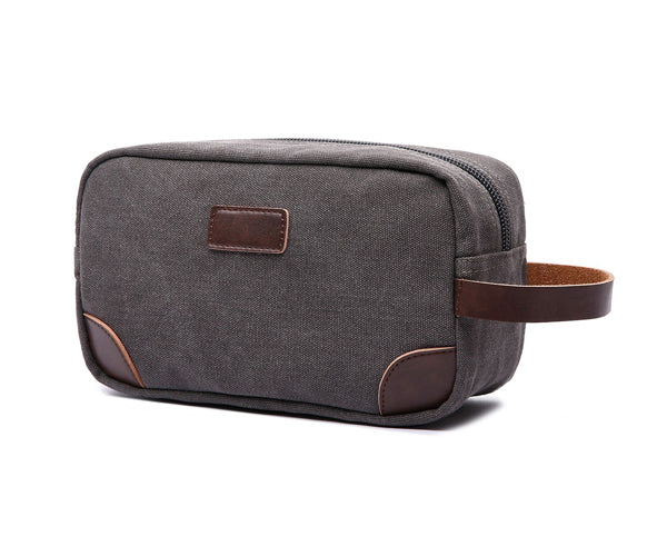 Mad Man - Grey Canvas and Leather Dopp