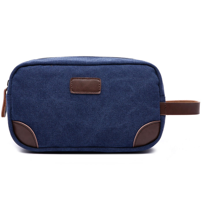 Mad Man - Navy Canvas and Leather Dopp