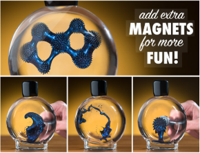 Colorful Blue Ferrofluid in a Bottle (100 mL)