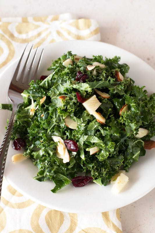 Bacon Kale Salad with Lemon Vinaigrette