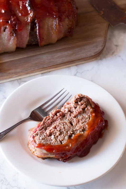 Cracked Four Pepper Bacon Wrapped Meatloaf