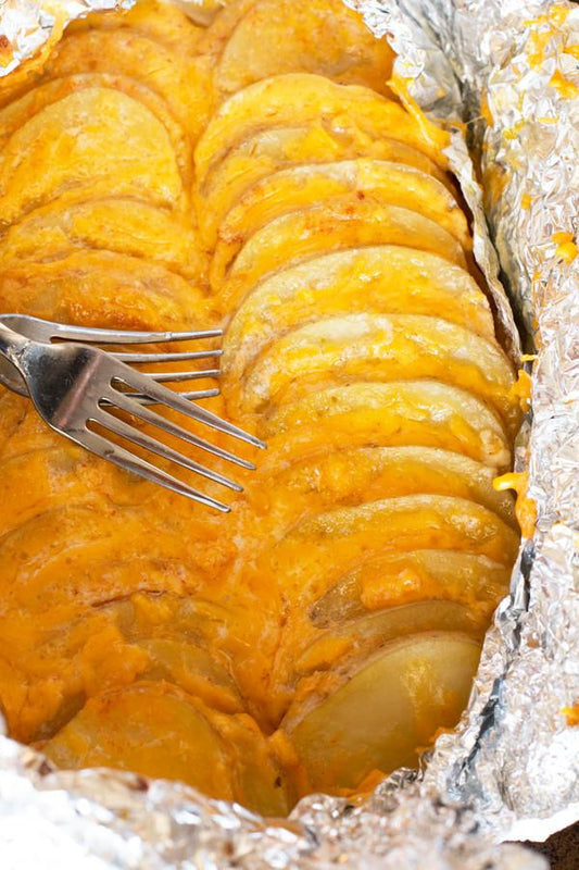 Foil-Wrapped Cheesy Potatoes