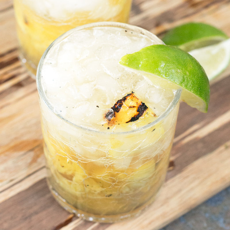 Grilled Pineapple Bourbon Smash