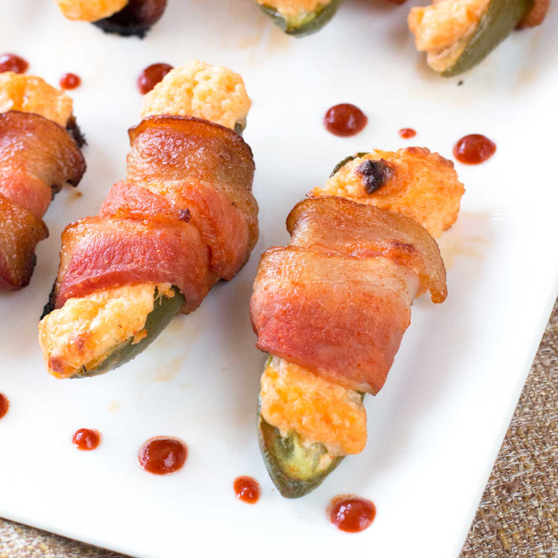 Sriracha Bacon Wrapped Stuffed Jalapeños