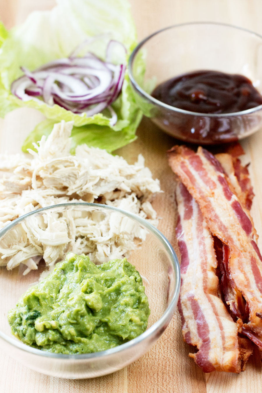 BBQ Chicken & Bacon Guacamole Wraps | Sauce + Style
