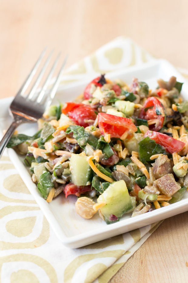 BBQ Ranch Chopped Salad | Sauce + Style Blog (pigofthemonth.com)