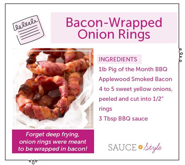 Bacon-Wrapped Onion Rings | Sauce + Style