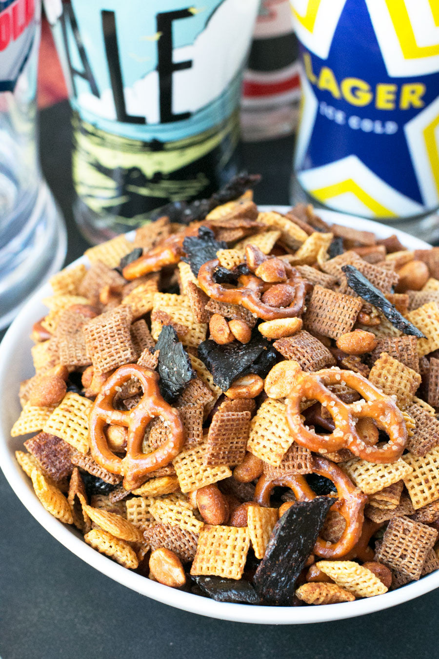 Quick & Easy Beef Jerky Chex Mix | Sauce + Style