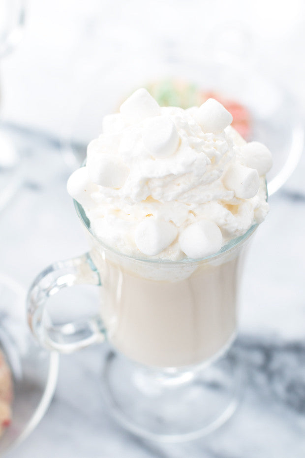 Boozy White Hot Chocolate | Sauce + Style