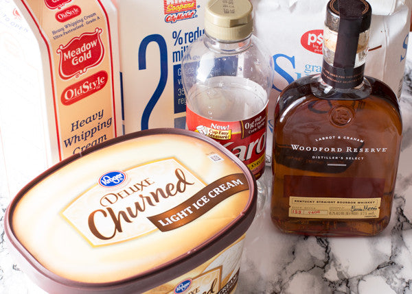 Bourbon-Caramel-Milkshake-ingredients