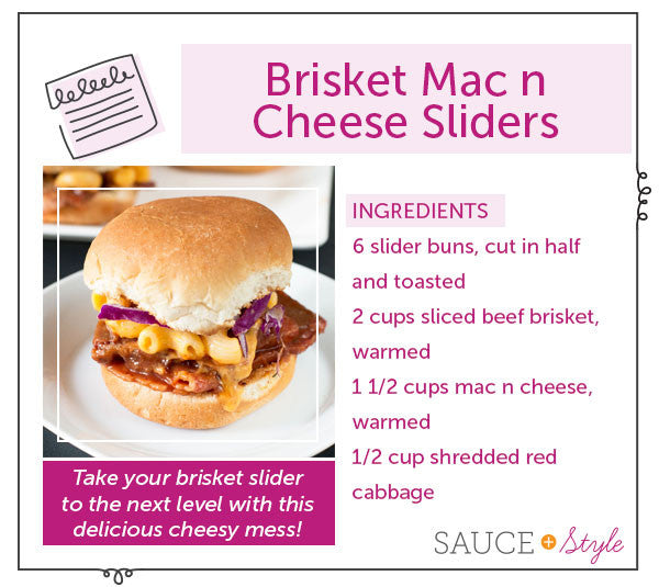 Brisket Mac N Cheese Sliders | Sauce + Style