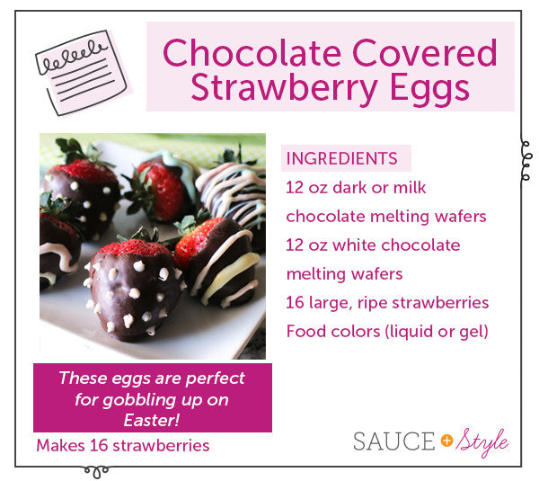 Chocolate Covered Strawberry Eggs - perfect for Easter!